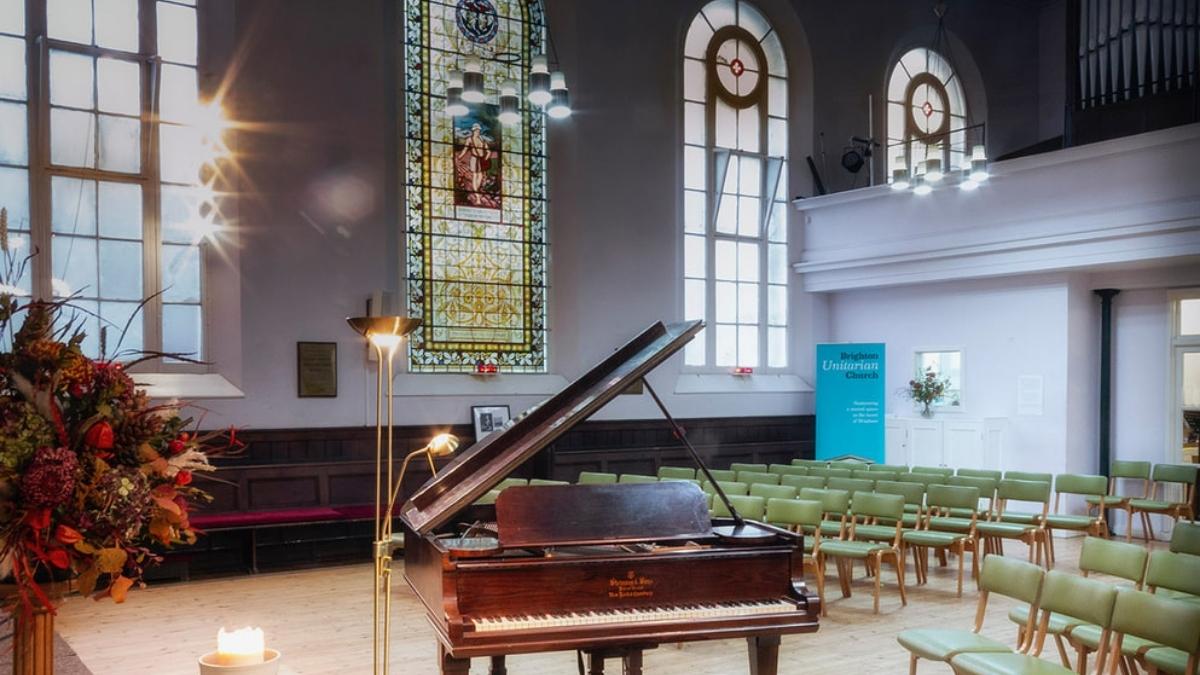 Interior of Brighton Unitarian Church