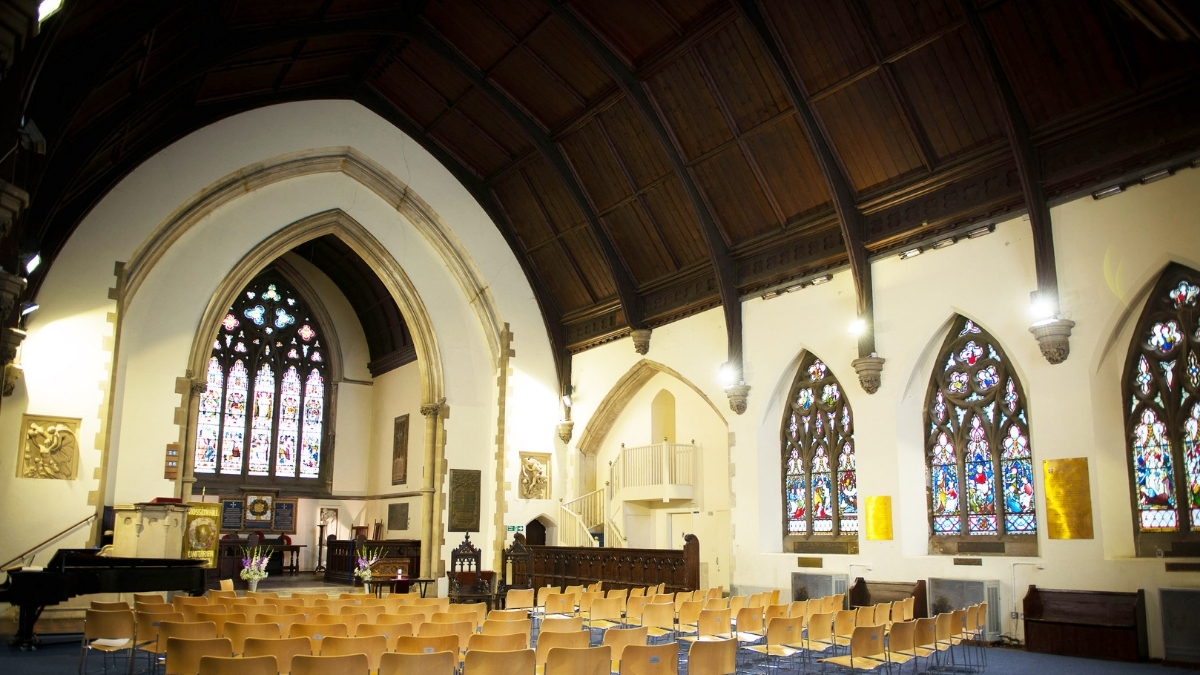 Interior of Rosslyn Hill Chapel, London