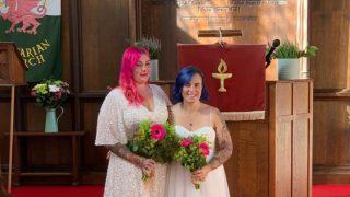 Wedding at Swansea Unitarian Church