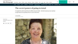 Rev Sue Woolley article on Teetotal - Daily Telegraph