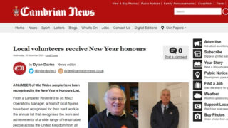 Rev Goronwy Evans - Cambrian News